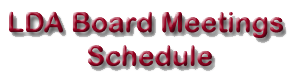 Board Room Meeting Schedule